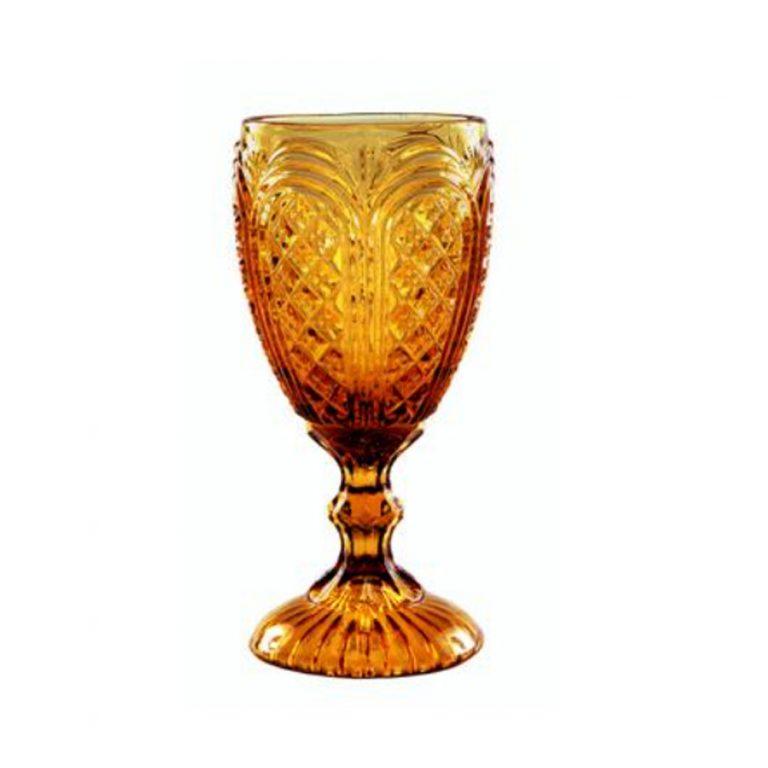 Amber Carousel Glass