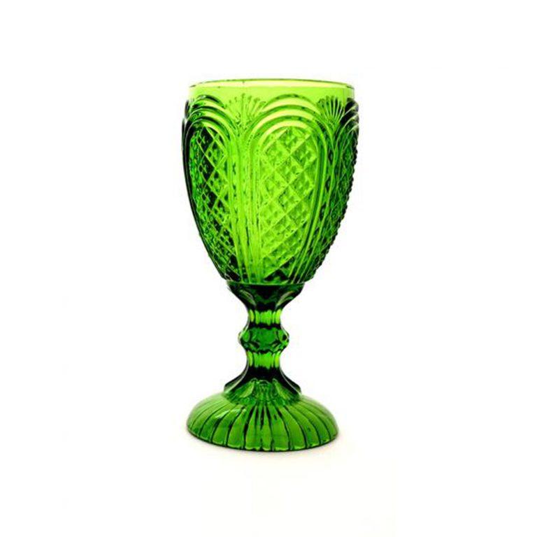 Green Carousel Goblet